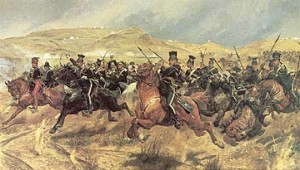 Woodville's Charge of the Light Brigade (courtesy of Wikipedia), another famous exercise in futility.