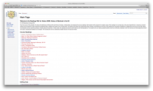 Screen shot of the wiki in progress; click to enlarge.