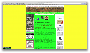 What a terrible website!  (Just kidding.  Thanks, Geocities-izer!)