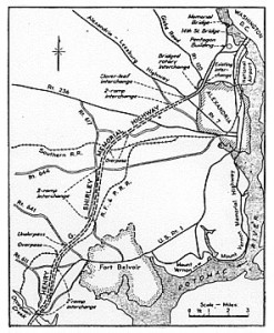 Map of the original Shirley Highway